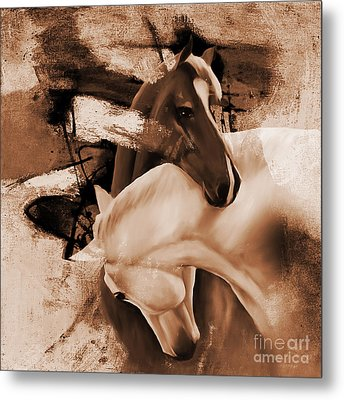 Pair Of Horses 03 Metal Print by Gull G