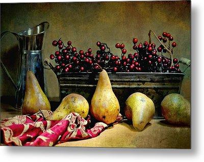 Pairs Of Pears Metal Print by Diana Angstadt