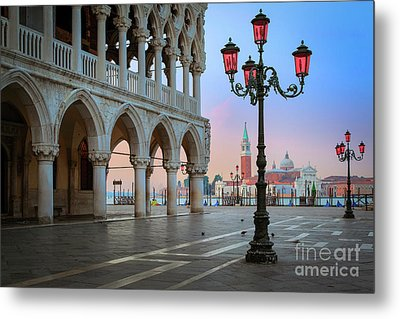 Palazzo Ducale Metal Print by Inge Johnsson