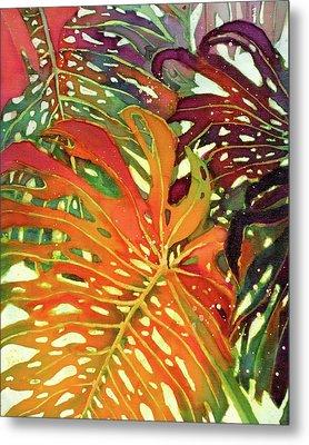 Palm Patterns 2 Metal Print by Deborah Younglao
