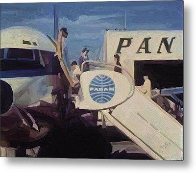 Pan American Airways Boeing 707 Metal Print by Nop Briex