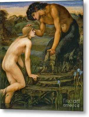 Pan And Psyche 1872 Metal Print by Padre Art