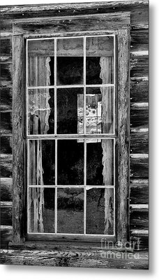Panes To The Past Metal Print by Sandra Bronstein
