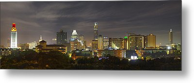 Panorama Of The Austin Skyline On A September Morning Metal Print by Rob Greebon