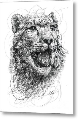 Leopard Metal Print by Michael  Volpicelli