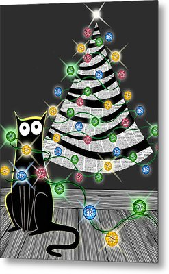 Paper Christmas Tree Metal Print by Andrew Hitchen