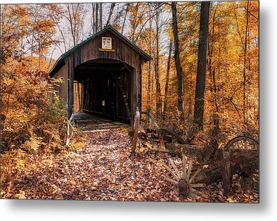 Pappy Hayes Covered Bridge Metal Print by Tom Mc Nemar