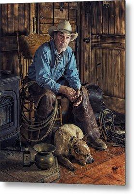 Pardners Metal Print by Ron McGinnis