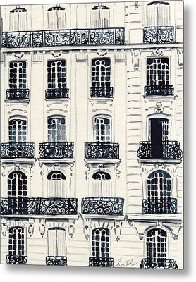 Paris Apartments Haussman Architecture Metal Print by Laura Row