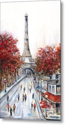 Paris In The Fall Metal Print by Marilyn Dunlap
