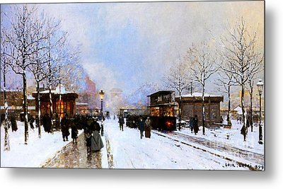 Paris In Winter Metal Print by Luigi Loir