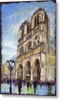 Paris Notre-dame De Paris Metal Print by Yuriy  Shevchuk
