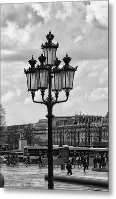 Paris Street Lamps Metal Print by Diana Haronis
