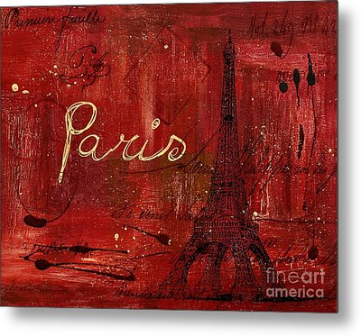 Paris - V01ct1at2cc Metal Print by Variance Collections