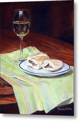 Parisian Lunch Metal Print by Jeanne Rosier Smith
