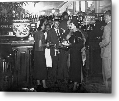 Parisian Waiters Strike Metal Print by Underwood & Underwood