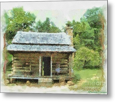 Parkway Cabin Metal Print by Paulette B Wright