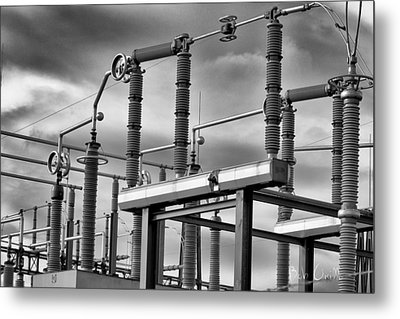 Part Of The Grid Metal Print by Bob Orsillo