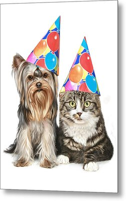 Party Animals Metal Print by Bob Nolin