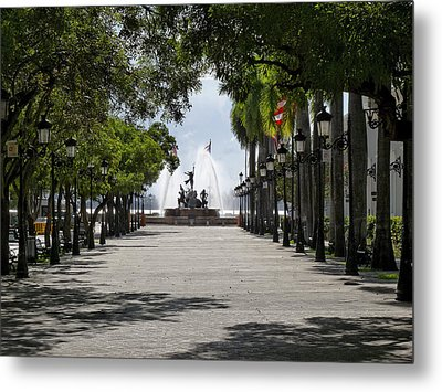 Paseo De La Princesa In San Juan Metal Print by George Oze