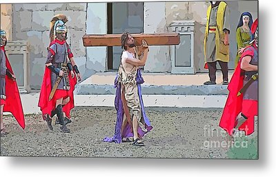 Passion Of Christ Painting  Metal Print by John Malone