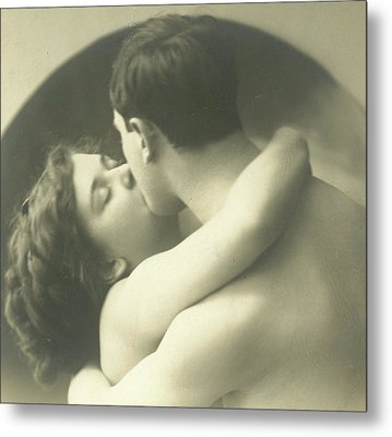 Passionate Kiss Metal Print by French School