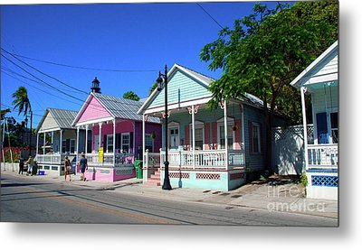 Pastels Of Key West Metal Print by Susanne Van Hulst