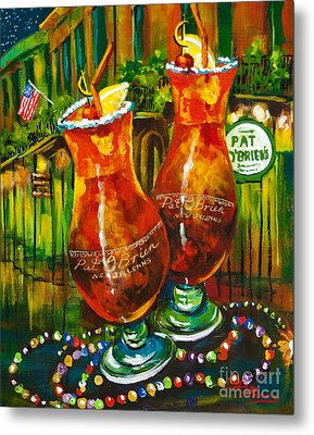 Pat O' Brien's Hurricanes Metal Print by Dianne Parks
