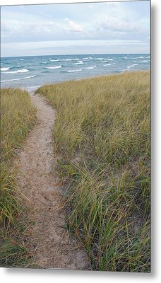 Path To The Beach Metal Print by Twenty Two North Photography
