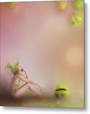 Patience....pretty In Pink Metal Print by Joe Gilronan