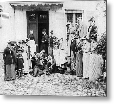 Patients Wait To See Dentist Metal Print by Underwood Archives
