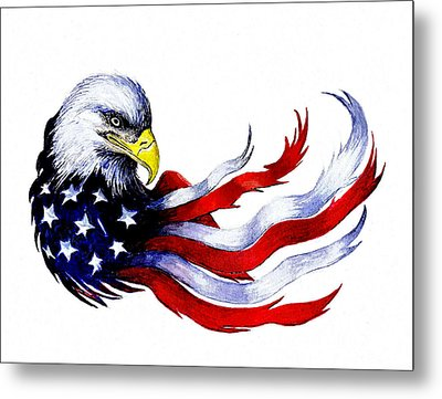 Patriotic Eagle Metal Print by Andrew Read