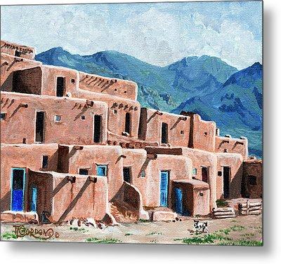 Patrolling The Pueblo Metal Print by Timithy L Gordon