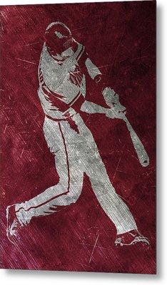 Paul Goldschmidt Arizona Diamondbacks Art Metal Print by Joe Hamilton