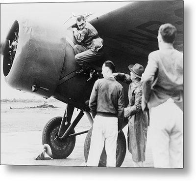 Paul Mantz, Stunt Pilot And Air Racer Metal Print by Everett