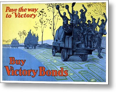 Pave The Way To Victory Metal Print by War Is Hell Store