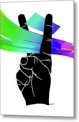 Peace Ribbons Metal Print by Anthony Caruso