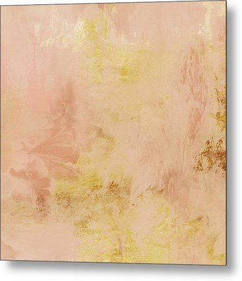 Peach Harvest- Abstract Art By Linda Woods. Metal Print by Linda Woods