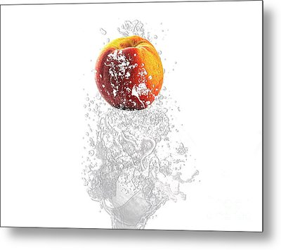 Peach Splash Metal Print by Marvin Blaine