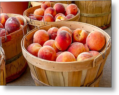 Peaches For Sale Metal Print by Teri Virbickis
