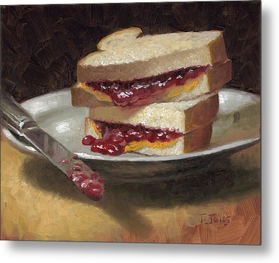 Peanut Butter Jelly Time Metal Print by Timothy Jones