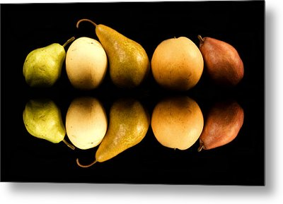 Pear Reflections Metal Print by Cabral Stock