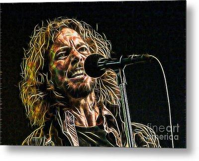 Pearl Jam Eddie Vedder Collection Metal Print by Marvin Blaine