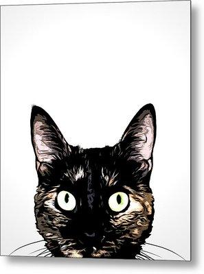Peeking Cat Metal Print by Nicklas Gustafsson