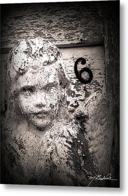 Peeling Paint Number 6 Metal Print by Melissa Wyatt