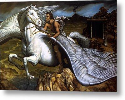 Pegasus Metal Print by Jane Whiting Chrzanoska