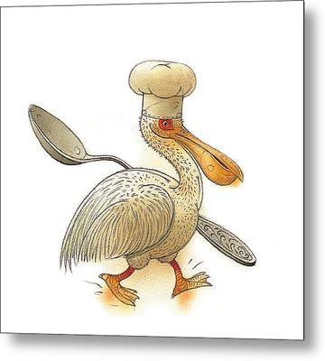 Pelican Metal Print by Kestutis Kasparavicius