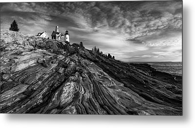Pemaquid Point Mono Metal Print by Darren White