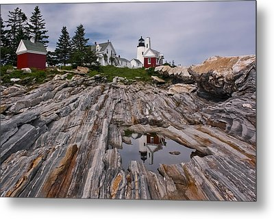 Pemaquid Reflections Metal Print by M S McKenzie
