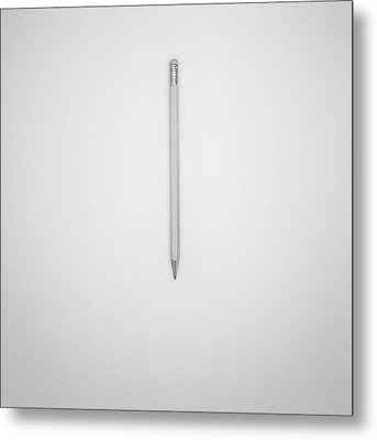 Pencil On A Blank Page Metal Print by Scott Norris